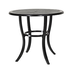 "Lattice 44"" Round Bar Table"