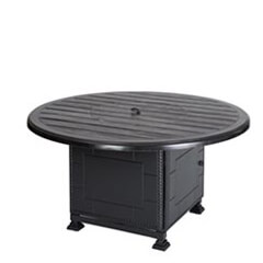 "Lattice 53"" Round Gas Fire Pit with Paradise Base"