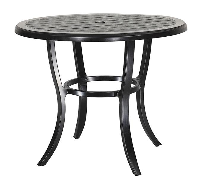 "Lattice 44"" Round Balcony Table"