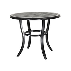 "Lattice 44"" Round Balcony Table"