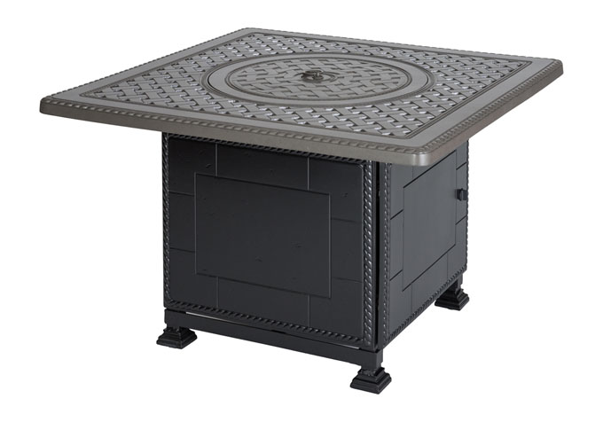 """Grand Terrace 42"""" Square Gas Fire Pit with Paradise Base"""