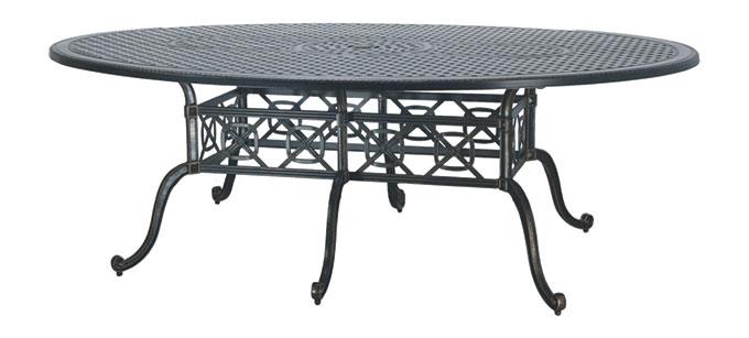 "Grand Terrace 72"" x 102"" Geo  Bar Table"