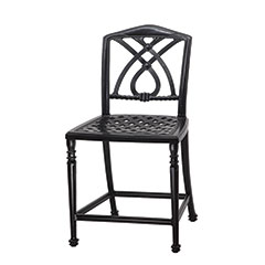 Terrace Cushion Stationary Balcony Stool w/o Arms - Welded