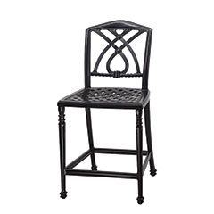 Terrace Cushion Stationary Bar Stool w/o Arms - Welded