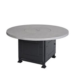 """Meridian 54"""" Round Gas Fire Pit with Paradise Base"""