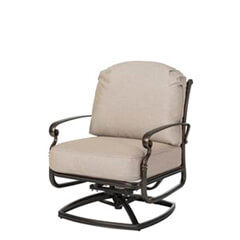 Bella Vista Cushion Swivel Rocking Lounge Chair