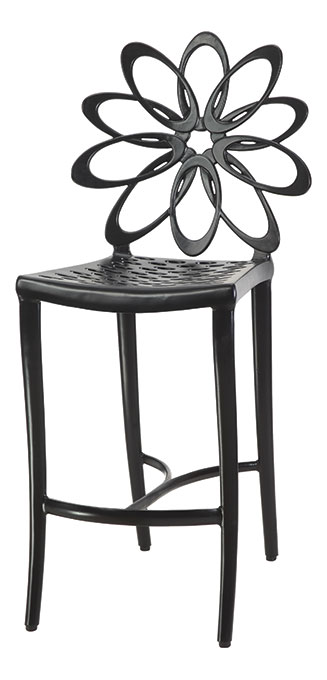 Superb Lotus Cushion Stationary Bar Stool W O Arms Gensun Onthecornerstone Fun Painted Chair Ideas Images Onthecornerstoneorg