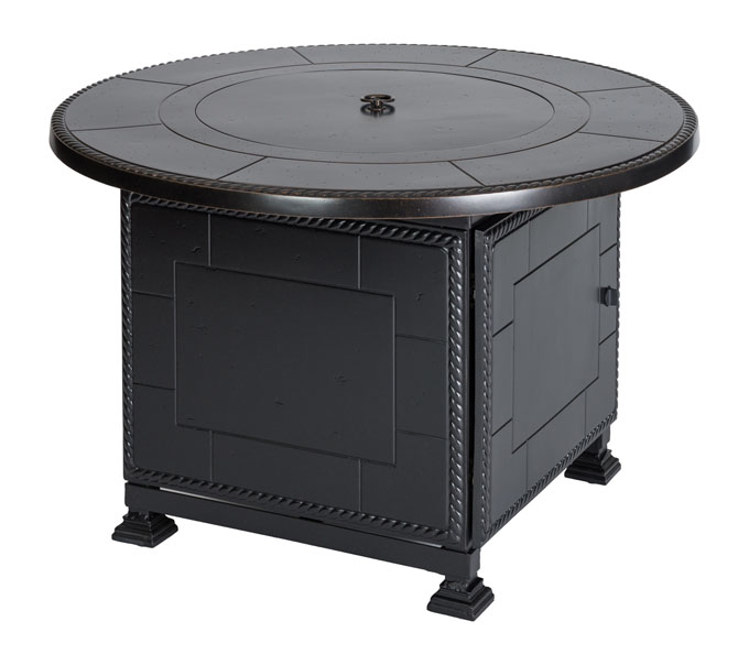 """Paradise 42"""" Round Gas Fire Pit with Paradise Base"""