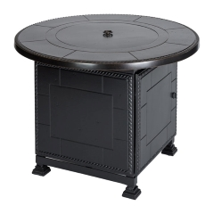 "Paradise 42"" Round Gas Fire Pit with Paradise Base"