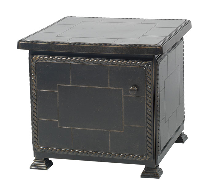 "Paradise 24"" Square Storage End Table"