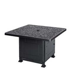 """Regal 42"""" Square Gas Fire Pit with Paradise Base"""