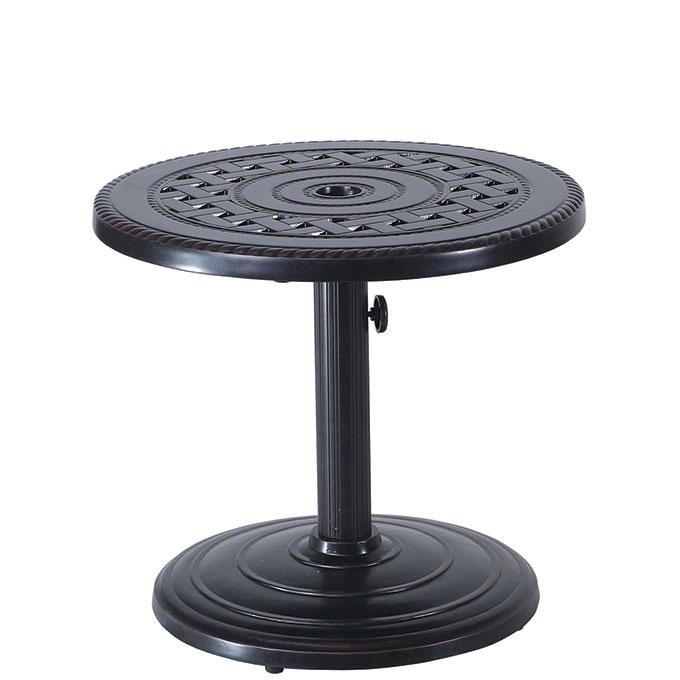 "Grand Terrace 24"" Round Umbrella End Table - 80lb Base"