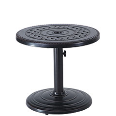 "Grand Terrace 24"" Round Umbrella End Table - 80lb Base"