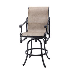 Michigan Sling Swivel Bar Stool