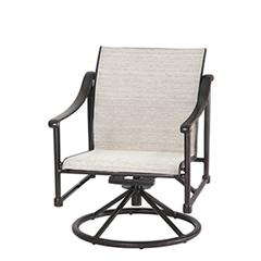 Morro Bay Sling Swivel Rocking Lounge Chair