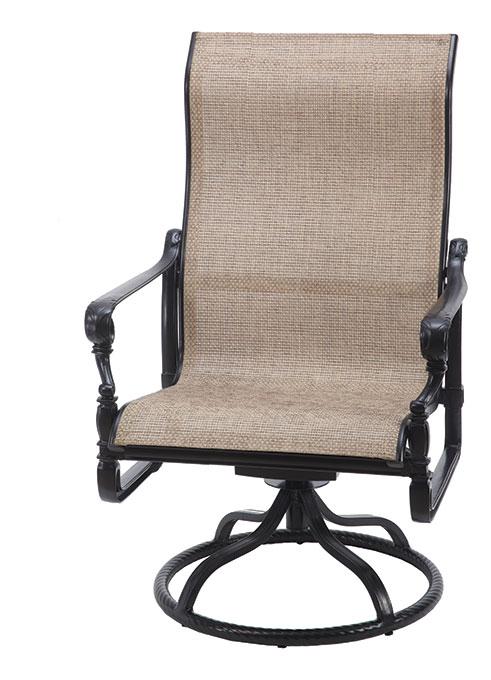 Grand Terrace Sling High Back Swivel Rocking Lounge Chair