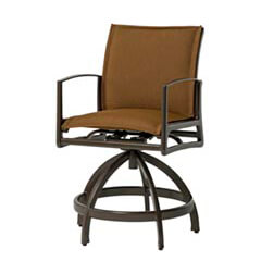 Phoenix Padded Sling Swivel Rocking Balcony Stool
