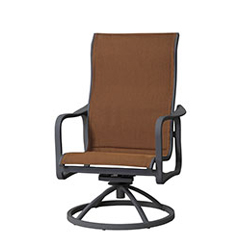 Cabrisa Padded Sling High Back Swivel Rocking Lounge Chair