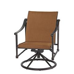 Morro Bay Padded Sling Swivel Rocking Lounge Chair