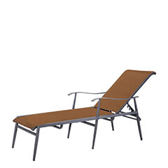 Lida Padded Sling Chaise Lounge