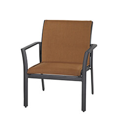 Echelon Padded Sling Lounge Chair - Stacking