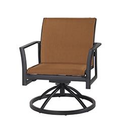 Echelon Padded Sling Swivel Rocking Lounge Chair - Stacking
