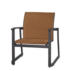 Paragon Padded Sling Lounge Chair - Stacking
