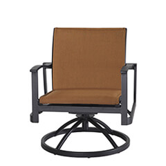 Paragon Padded Sling Swivel Rocking Lounge Chair