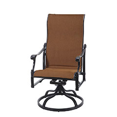 Michigan Padded Sling High Back Swivel Rocker