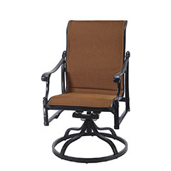 Michigan Padded Sling Standard Back Swivel Rocker