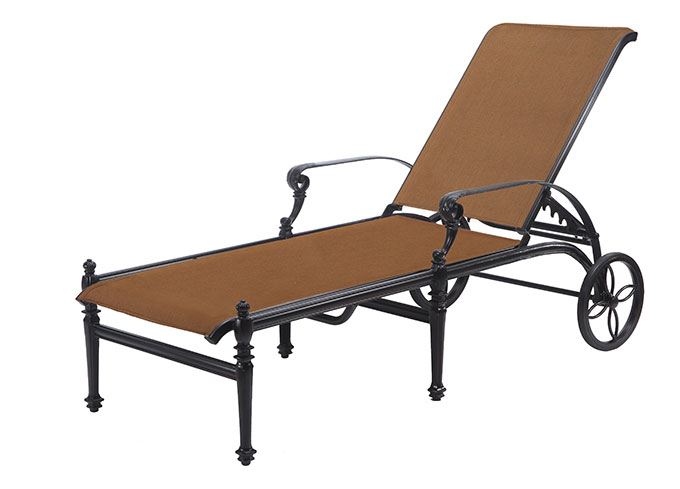 Grand Terrace Padded Sling Chaise Lounge