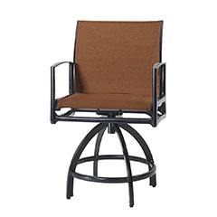 Phoenix Padded Sling Swivel Balcony Stool