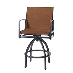 Phoenix Padded Sling Swivel Bar Stool