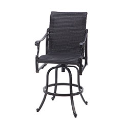 Michigan Woven Swivel Bar Stool