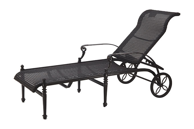 Grand Terrace Woven Chaise Lounge