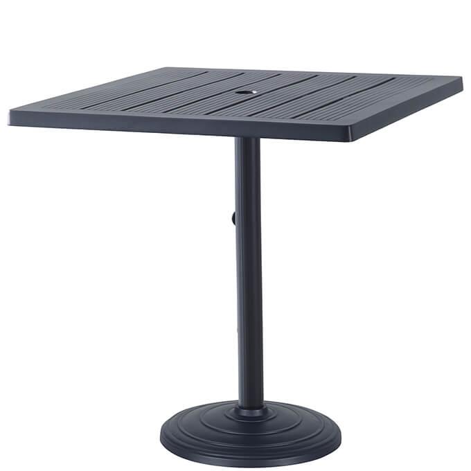 "Channel 36"" Square Pedestal Table"