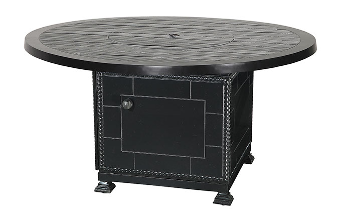 """Channel 53"""" Round Gas Fire Pit with Paradise Base"""