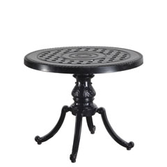 "Grand Terrace 26"" Round End Table w/Regal Base"
