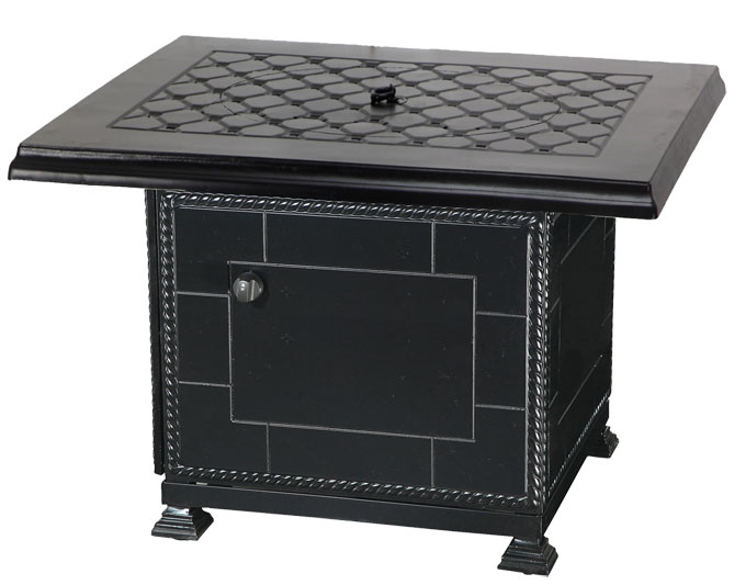 "Madrid II 42"" Square Fire Pit with Paradise Base"