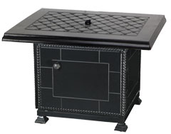 """Madrid II 42"""" Square Fire Pit with Paradise Base"""