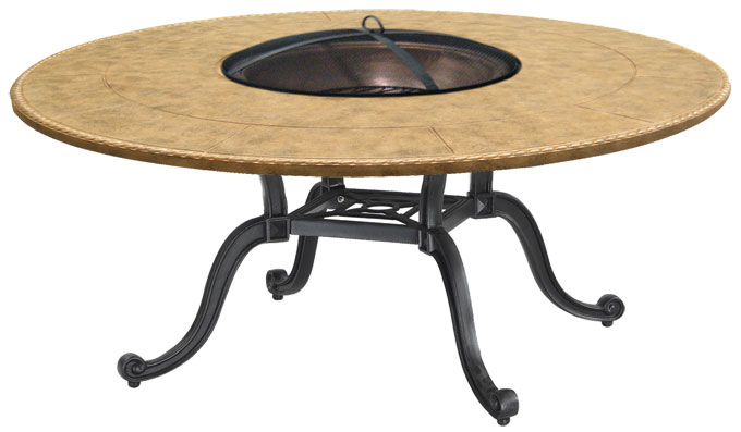 """Paradise 54"""" Round Chat Height Wood Fire Pit"""