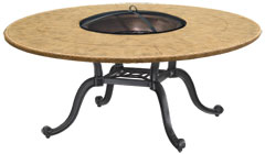 "Paradise 54"" Round Chat Height Wood Fire Pit"